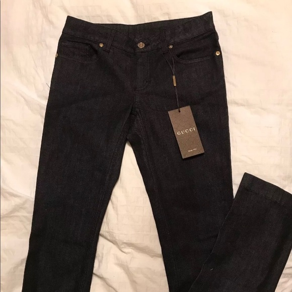 in vendita 428bb 9d6e1 Authentic Gucci black straight leg jeans